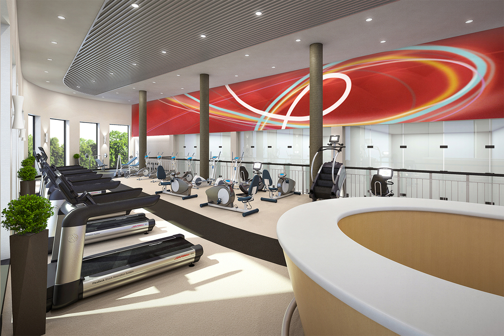 Project: Palisades Hotel & Conference Center   Architect:  Thomas Hamilton & Associates    View: Fitness Room