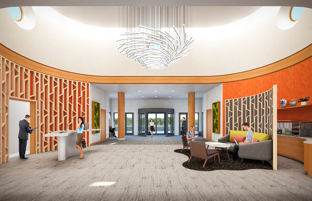 Project: Palisades Hotel & Conference Center   Architect:  Thomas Hamilton & Associates    View: Lobby
