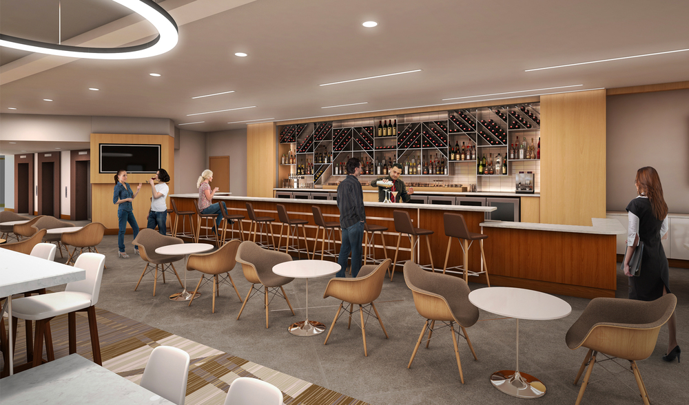 Project: Dayton Marriott   Architect:  Thomas Hamilton & Associates    View: Bar Area