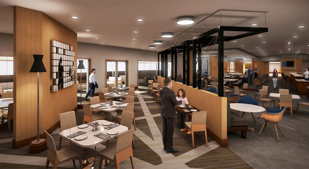 Project: Dayton Marriott   Architect:  Thomas Hamilton & Associates    View: Restuarant Area