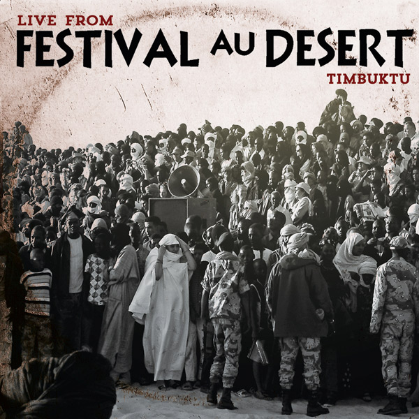 Festival au Desert Live from Timbuktu 2012   Two days before the 2012 rebellion in northern Mali. Soldiers are everywhere with guns mounted on pickups and low flying surveillance planes. Several thousand people have gathered outside Timbuktu to celebrate Saharan music and culture at the 12th edition of the Festival au Desert. Only a few months later, Sharia descends on the people of northern Mali. This historic recording captures some of the excitement and fear of the people of northern Mali in January 2012.  An additional 10 tracks were released on digital platforms only.   CLE2013001