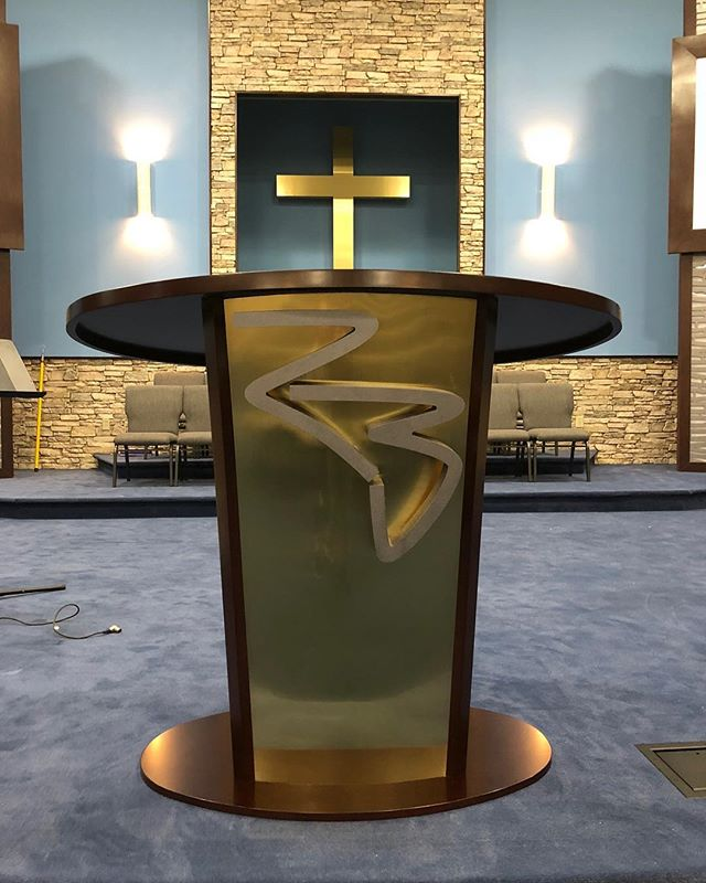 Podium for Rockbridge Church. Nice to see designs come to life!