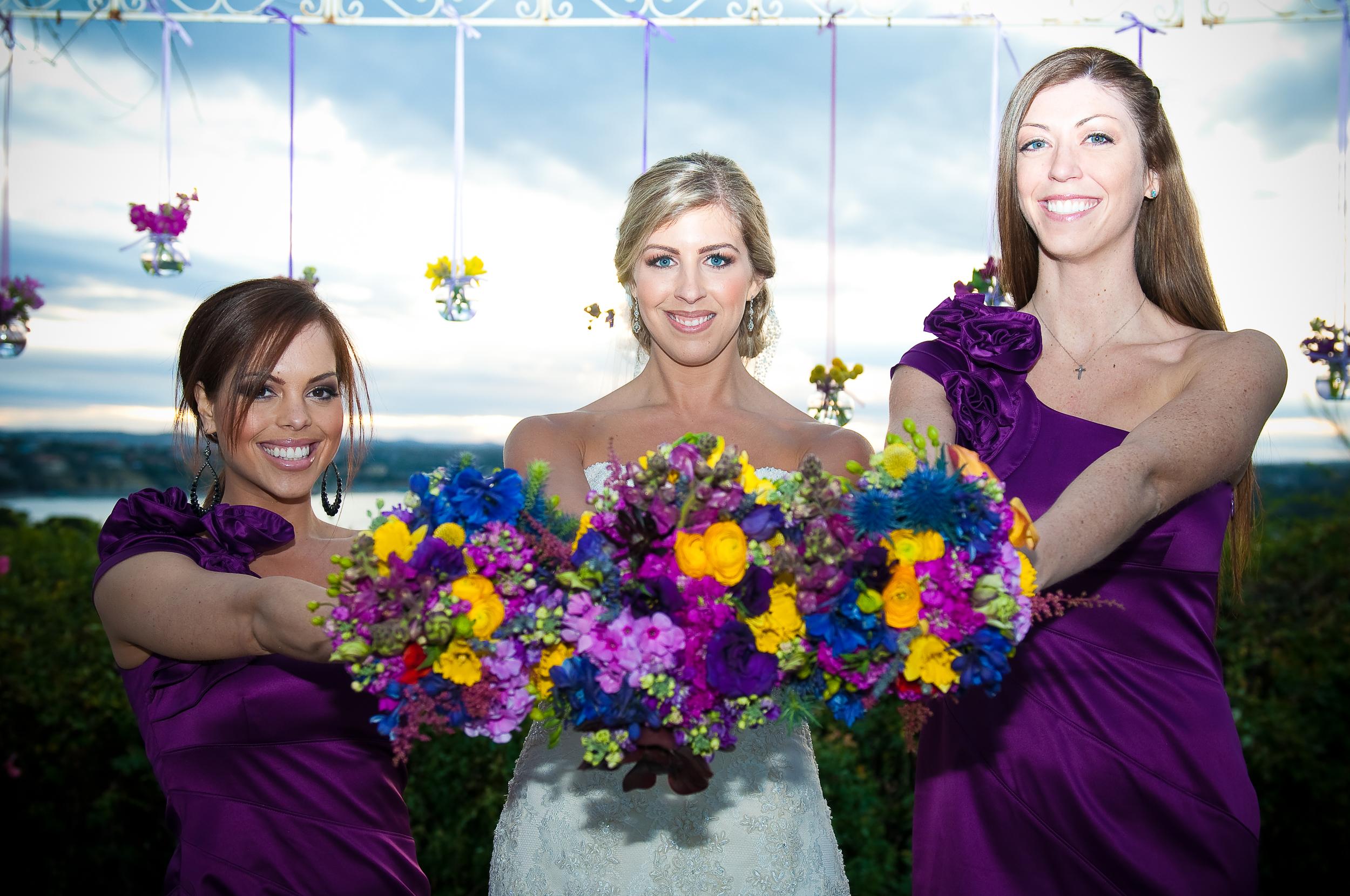 Wildflower Bridesmaids Bouquets Vintage Villas