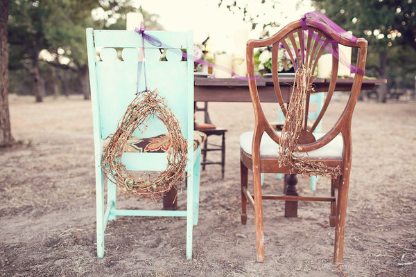 vintage chairs, lettters on chairs