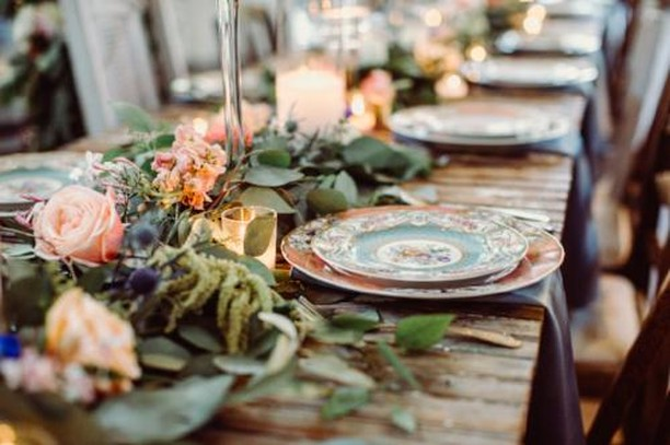 It's the little details that bring it all together. Loving all the blues, peaches, and greens with our mixed vintage plates. Venue: @vistawestranch Photo: @foreverphotographystudio Coordinator: @coordinatethis . . #thepetalpushers #weddingflowers #weddingdecor #vintagewedding #weddingdetails #wedding #bridesofaustin #austinwedding