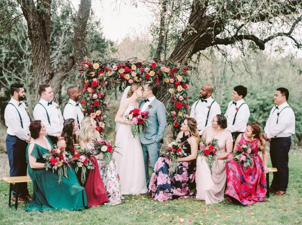 the-creek-haus-wedding-destination-weekend-lodging-austin-texas-petal-pushers-florist-bride-bouquet-bridesmaid-ceremony