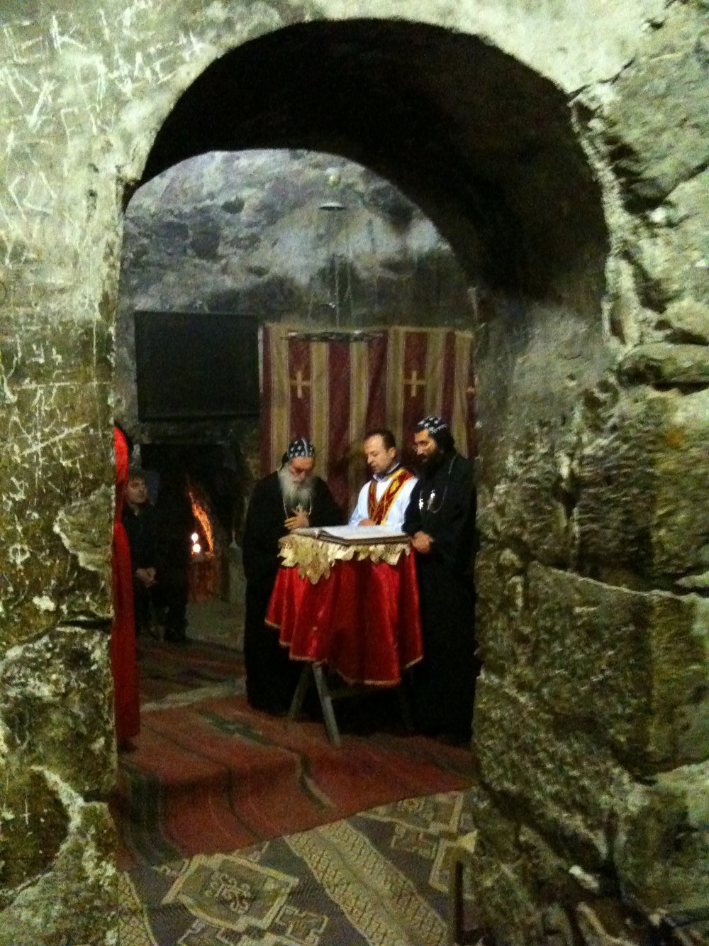 Sunday Liturgy in the Syrian Orthodox Chapel behind the Tomb of Christ
