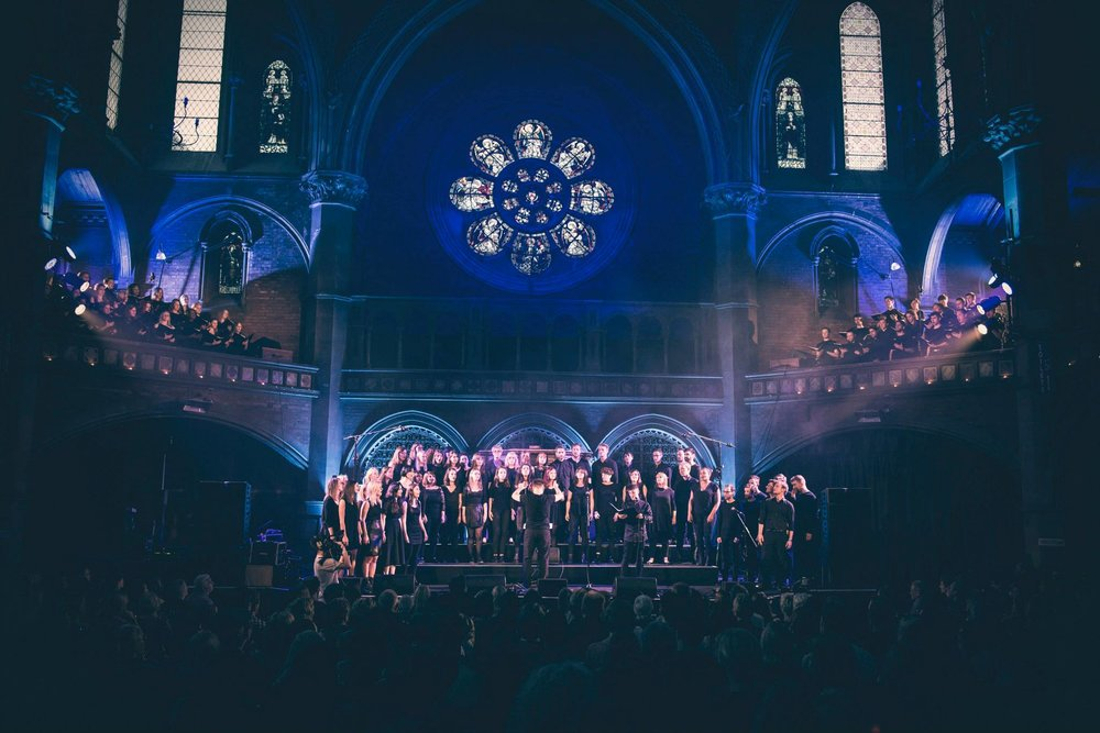 Confluence - Saturday, June 10, 2017 • 20:00 - 22:30 • Union ChapelLCV presents Confluence: London Contemporary Voices and guests. The choir's third annual show at the Union Chapel celebrates its growing profile in leftfield, alternative and electronic music and will involve over 100 singers from diverse musical backgrounds and sets from special guest artists. Find out more