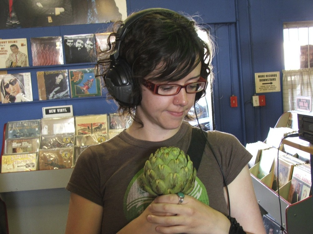that's me, with my artichoke hanging out in Hot Waxx.