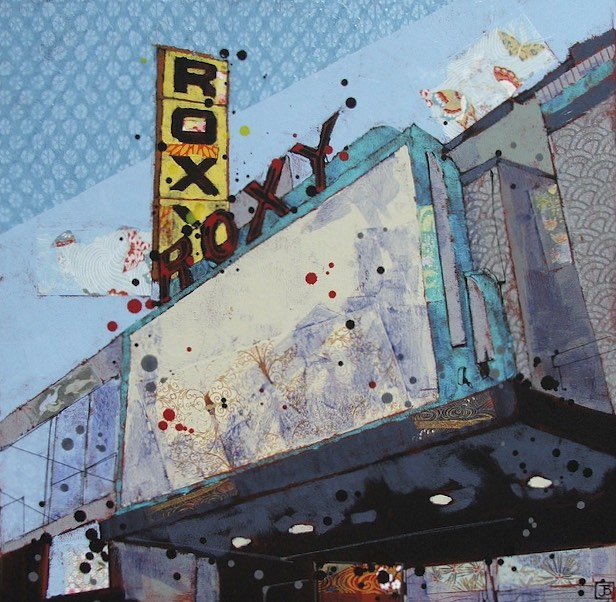 the Roxy III, mixed media on canvas, 20x20 (in)