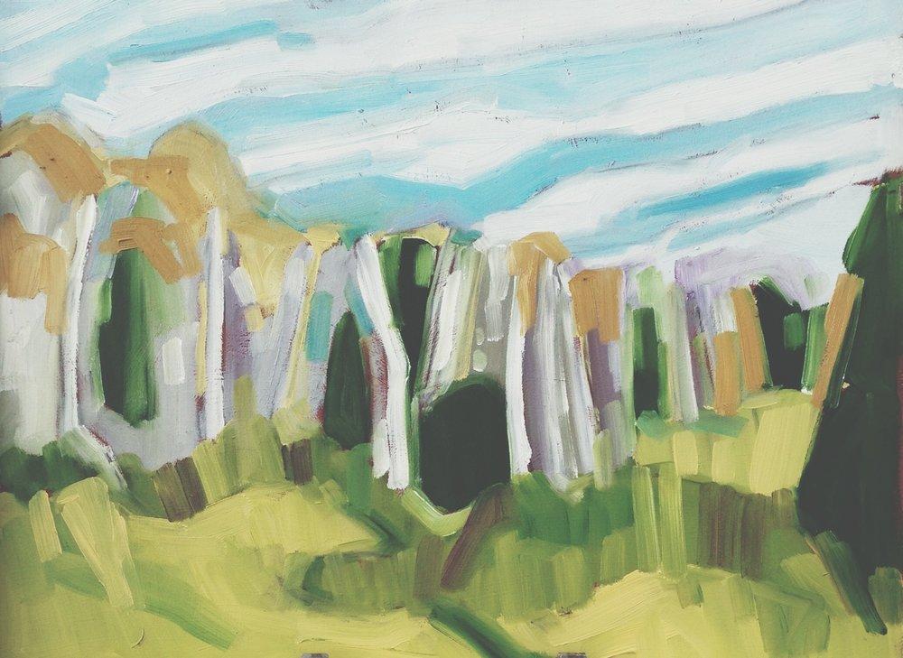 autumn layers II, oil on masonite, 9x12(in), 2016