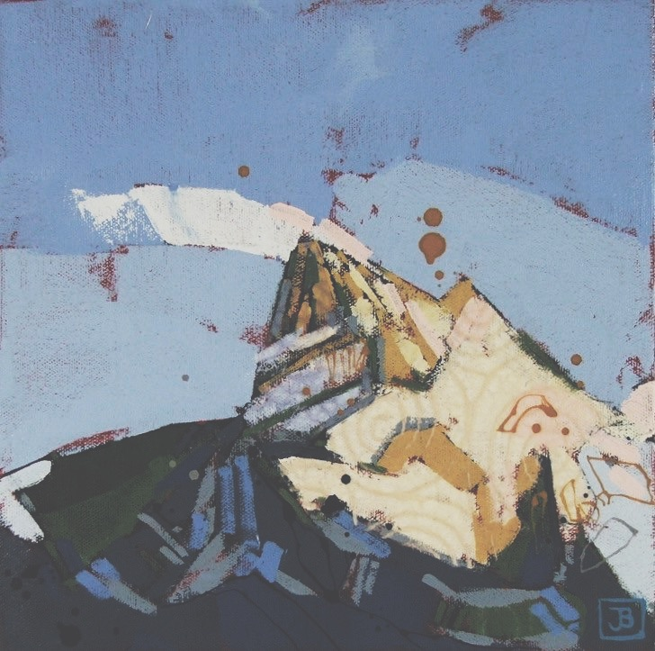 mountain for II, mixed media on canvas, 10x10(in), $150 + GST, 2017