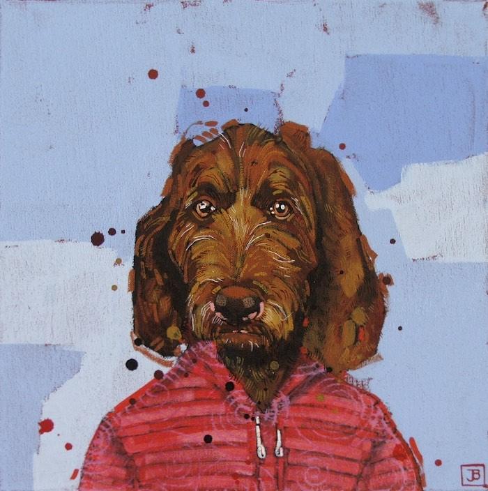 odin, mixed media on canvas