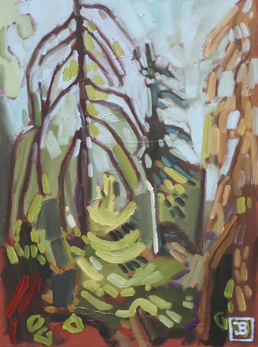 northern forest II,  oil on masonite, 9x12(in),  SOLD,   2018