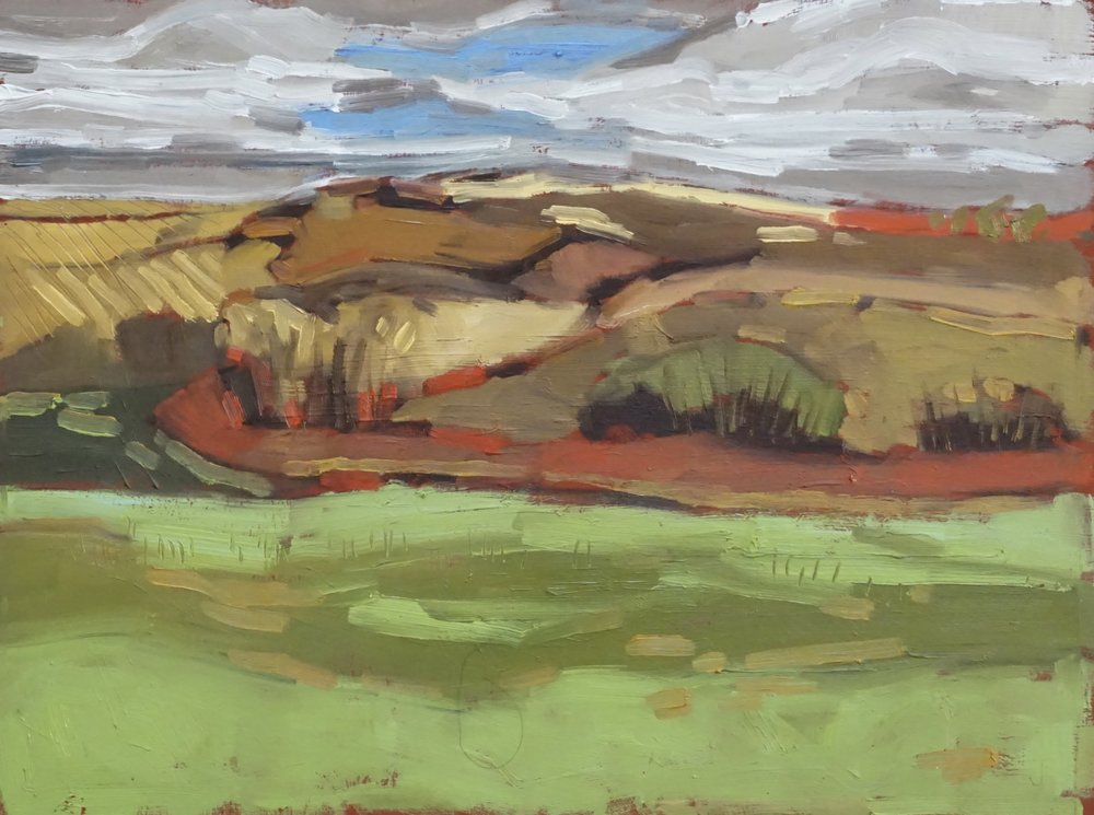 gordon leslie conservation area, AB,  oil on mansonite, 9x12(in), $150 + GST,  2018