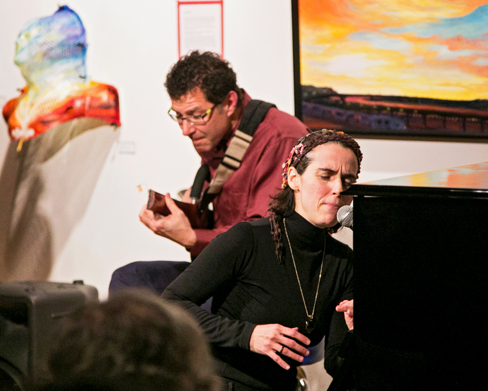 Clarice Assad (voice and piano) with Chris Olson (guitar). Photo Credit:  Patrick Clancy