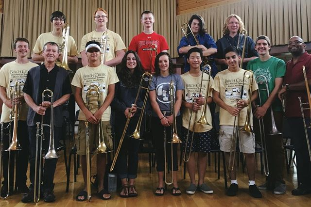 It's been a great two weeks of playing and working with the #trombones at @birchcreekmusic #jazz #doorcounty