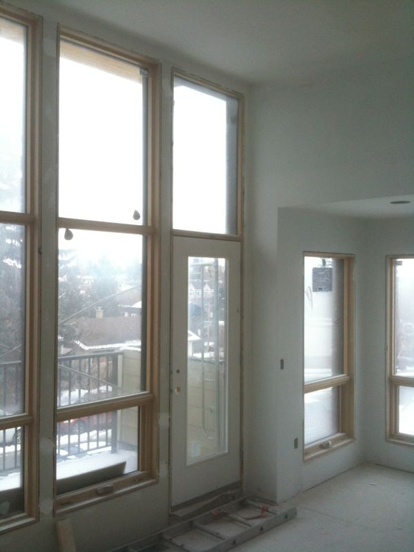 Master bedroom at 1609 29th Avenue SW at paint stage in construction.