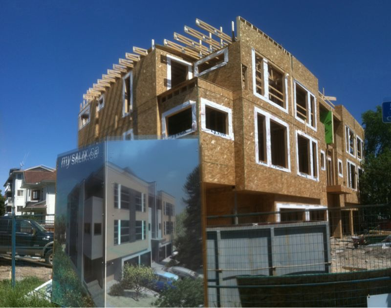 Niklas's Salix project taking shape. Compare the framing to the rendering on the site sign.