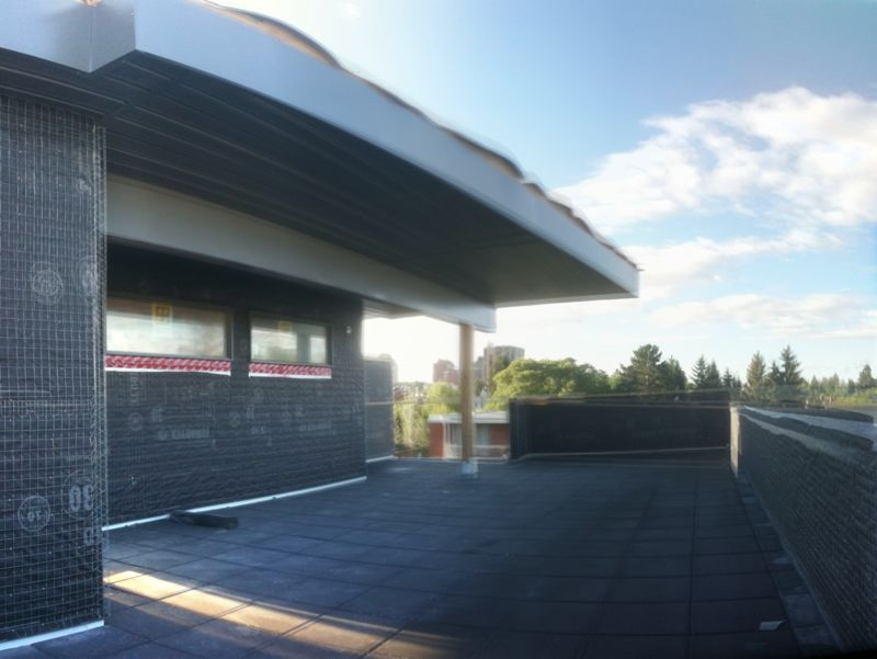 Morning from the rooftop patio of Niklas Groups' Salix project in Cliff Bingalow (under construction).