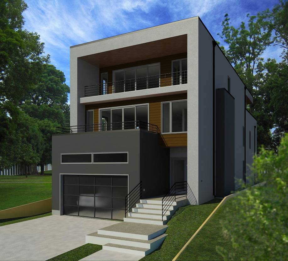 Construction has just started on this new single detached in Bankview
