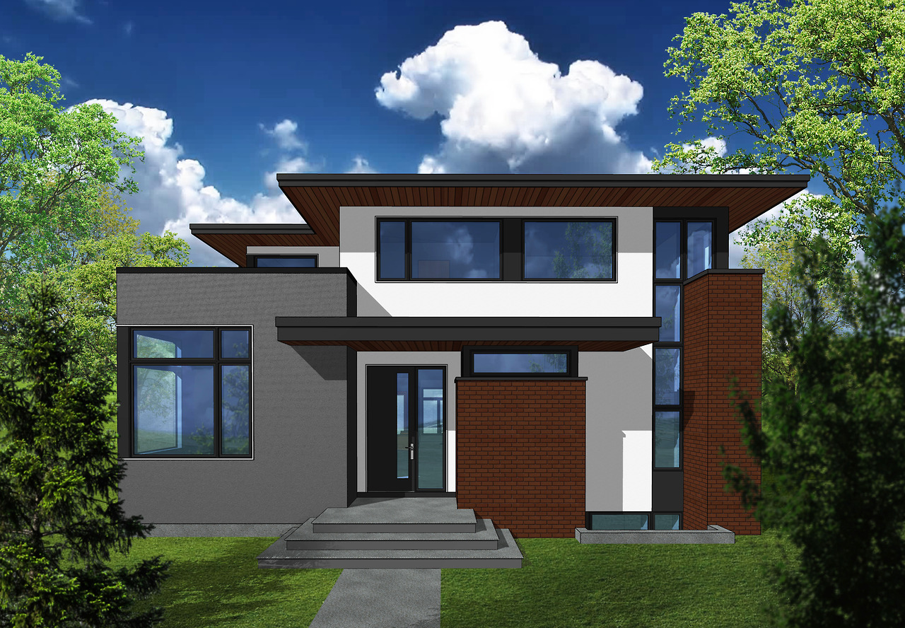 This modest 2-storey was designed for a property in Elboya. This Contextual DP was approved and released a mere 2 weeks after the initial submission. We've had faster approvals, but not by much!