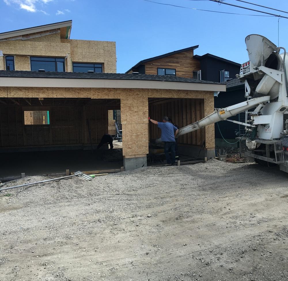 Garage slab inertia residential design for Garage slabs