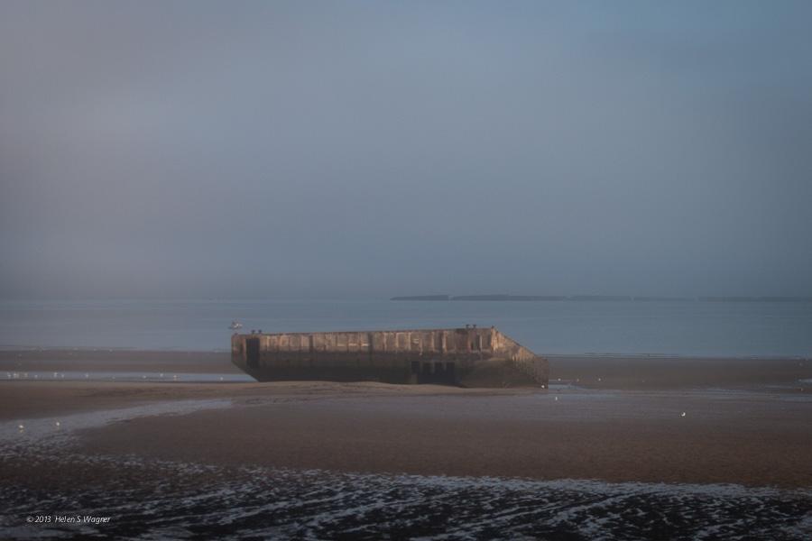 Gold Beach, caisson, mulberry harbor   Normandy, Franc  e