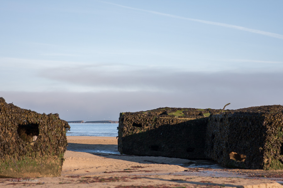 Components of Mulberry Harbor, Gold Beach  Normandy, France