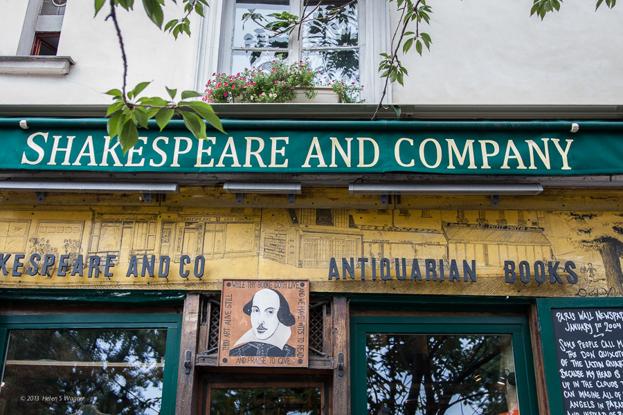 The facade of Shakespeare and Company invites people to explore the thousands of books inside.
