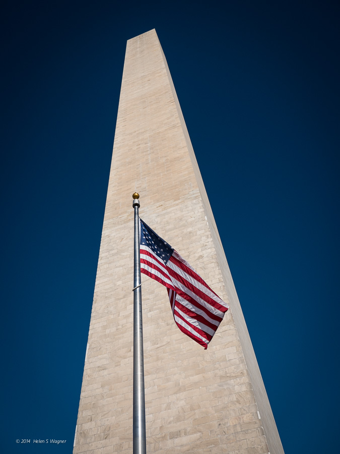 The Washington Monument is ever-present when visiting the National Mall in Washington, D. C.