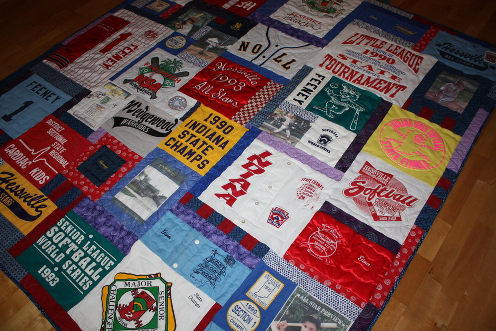 Softball T-Shirt Quilt