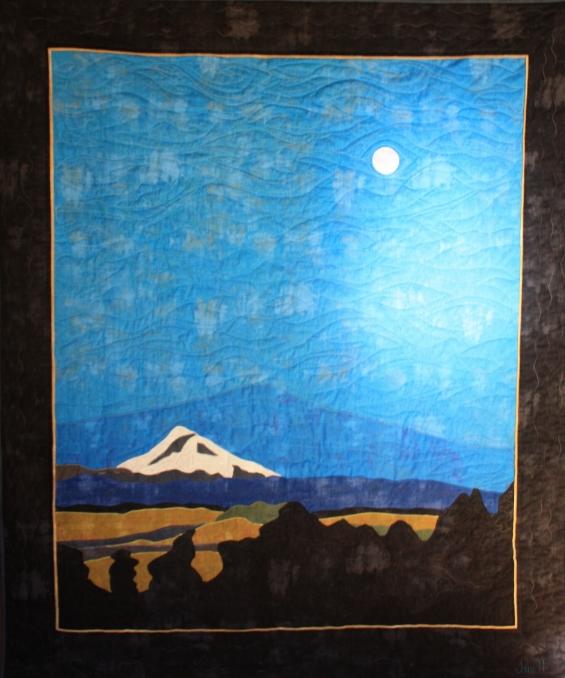 """Mount Shasta 50"""" x 64"""""""