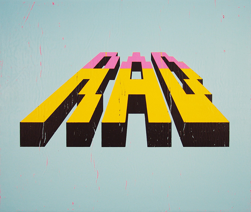 Rad   acrylic on canvas 22 x 26 inches hbt13-02 2013 Available for purchase   HERE