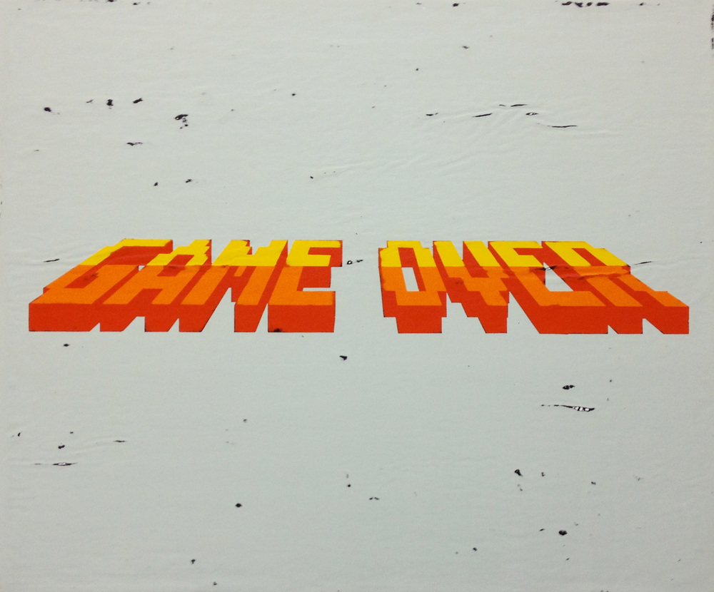 Game Over   acrylic on canvas 22 x 26 inches hbt12-07 2012 Available for purchase   HERE