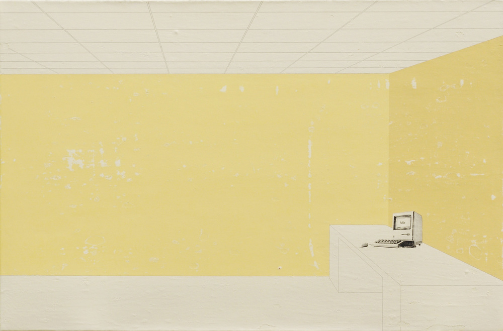 The Beige Room, the 128K Room or the Virtual Room, acrylic, pigment transfer on canvas, 30 x 46 inches, hbt08-37, 2008