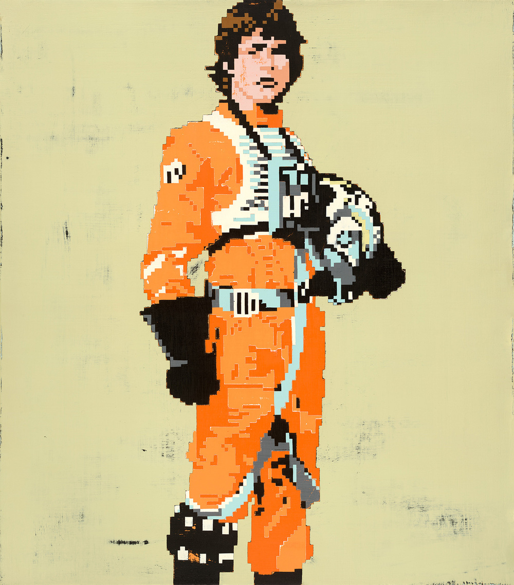 Luke Skywalker, acrylic on canvas, 30 x 26 inches, hbt11-03, 2011, Private Collection Prints Available HERE