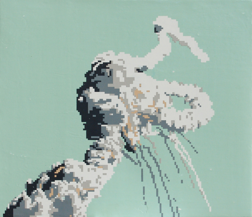 Challenger, acrylic on canvas, 26 x 30 inches, hbt11-06, 2011