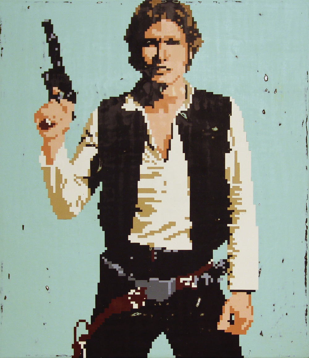 Han Solo, acrylic on canvas, 30 x 26 inches, hbt11-07, 2011 Available for Purchase HERE