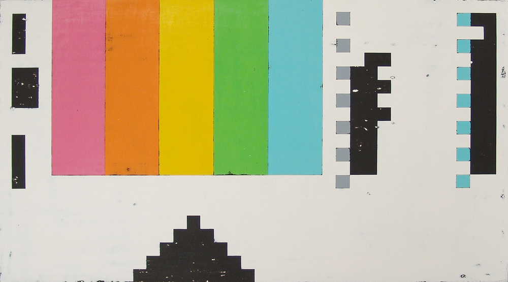 VHS, acrylic on canvas, 21 x 38 inches, hbt12-01, 2012 Available for Purchase HERE