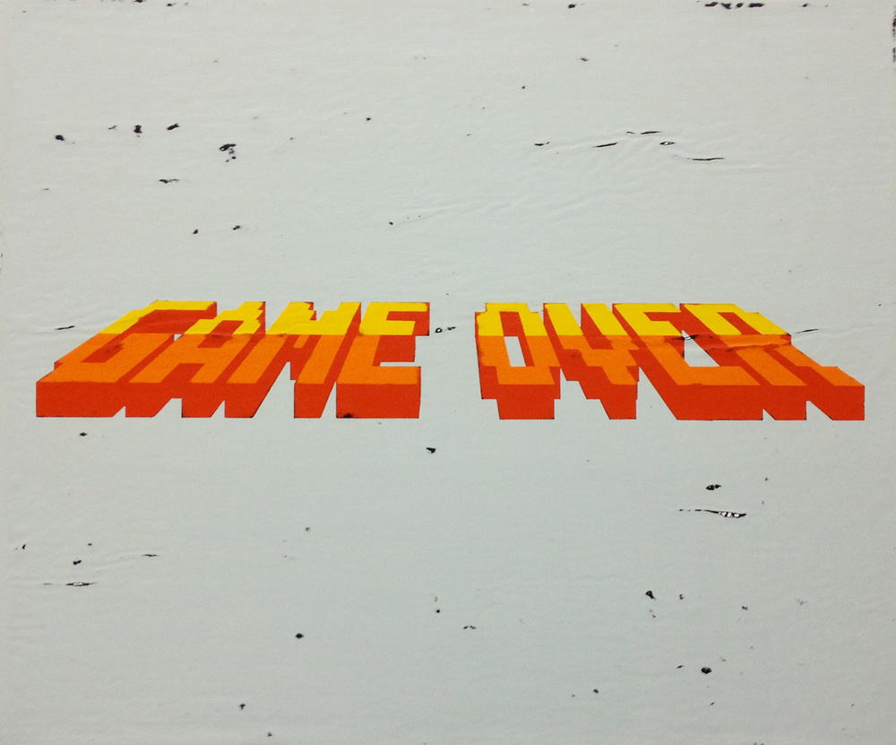 Game Over, acrylic on canvas, 22 x 26 inches, hbt12-07, 2012 Available for Purchase HERE