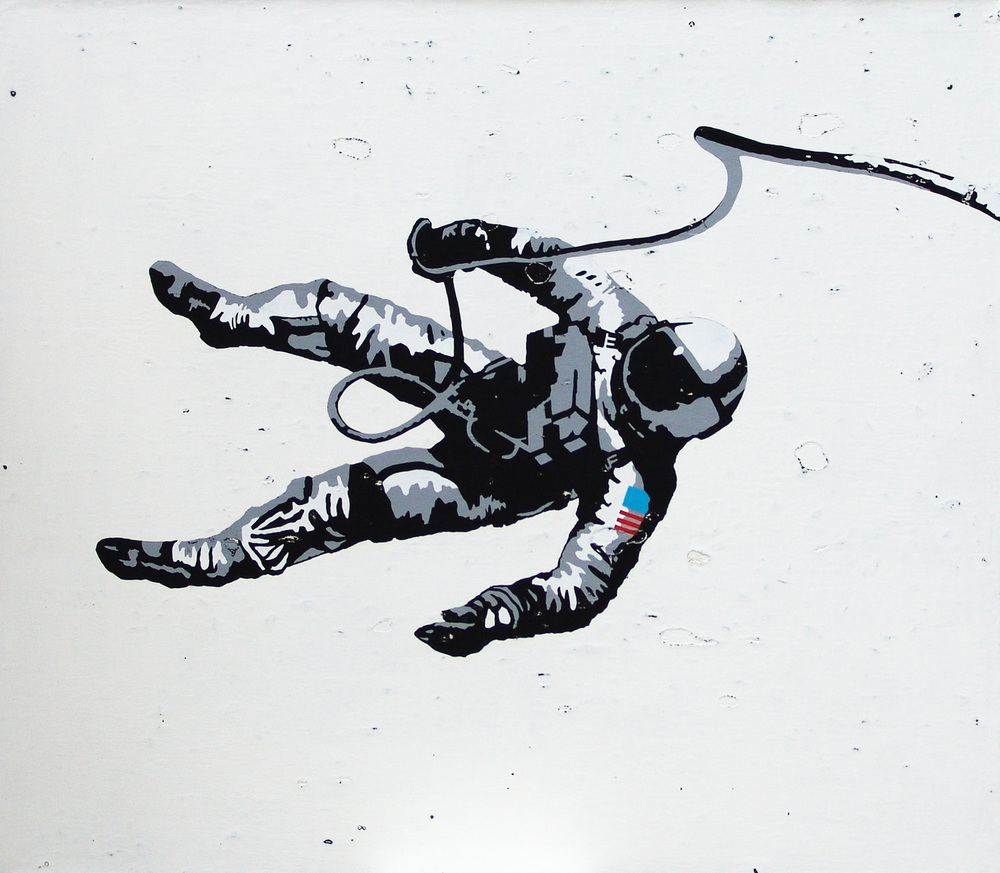 Astronaut, acrylic on canvas, 42 x 48 inches, hbt14-011, 2014 Prints Available HERE