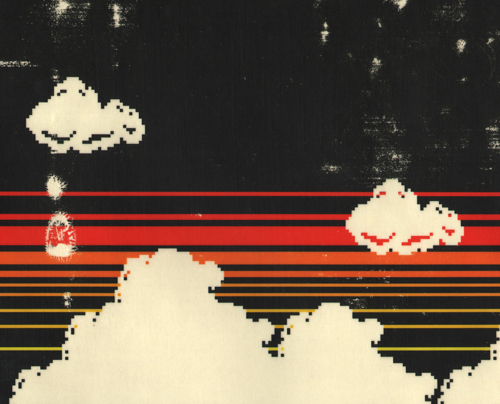Clouds in the Sky at Sunset, pigment transfer on paper, 8 1/4 x 10 1/4 inches, hbt10-p011, 2010