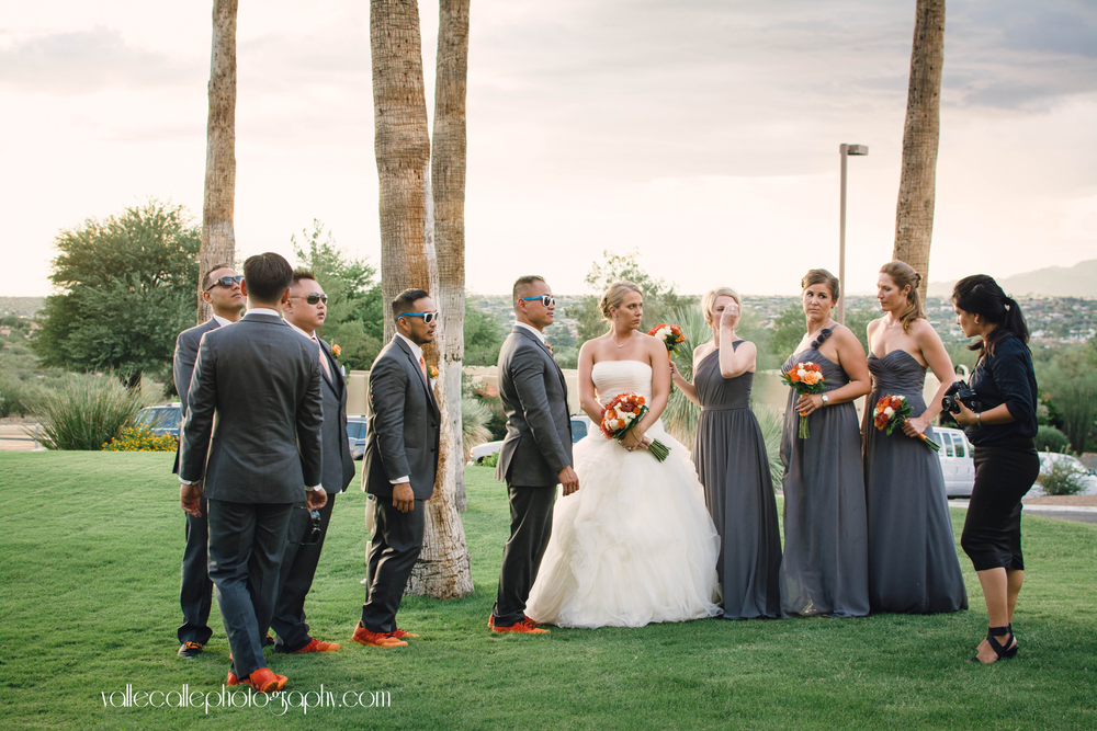 Yep, that's me in action rearranging my bridal party to take some photos!!!