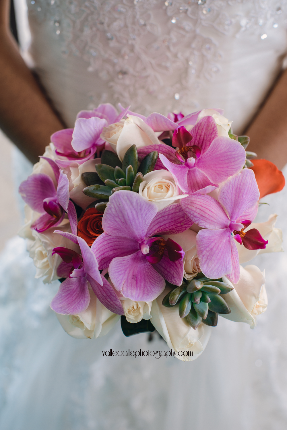 The choice of flowers: Succulents Orchids Roses