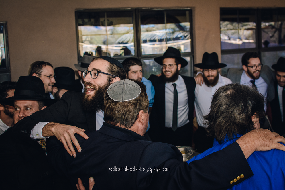 And after the Ketubah is signed the men really celebrate!