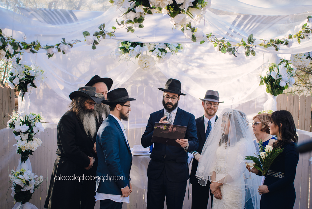 The ketubah is read and then given to the groom who then gives it to the bride ♥