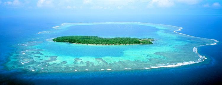 Vista aérea de la Isla