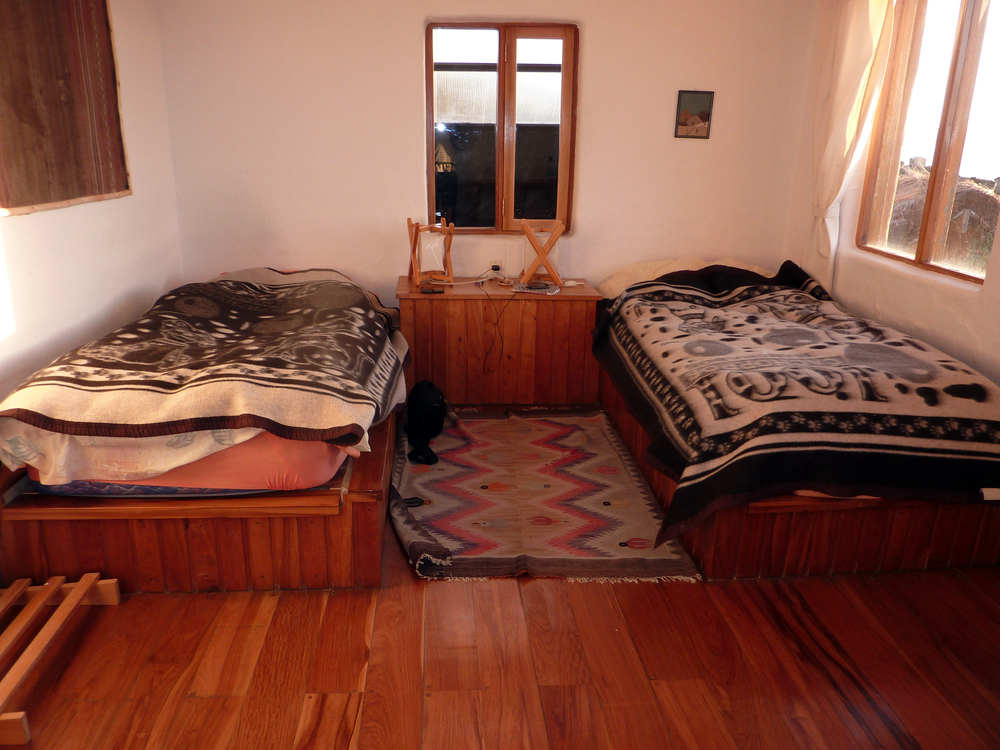Las habitaciones son todas de madera, esta fue la mía