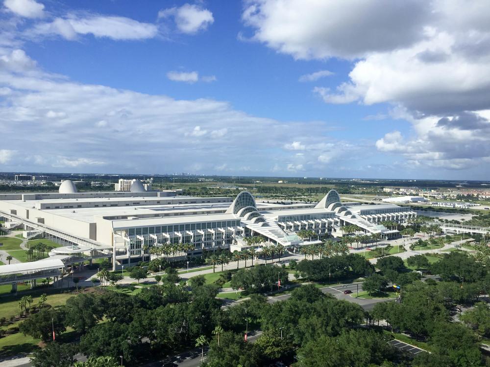 La vista desde mi habitación al Centro de Convenciones